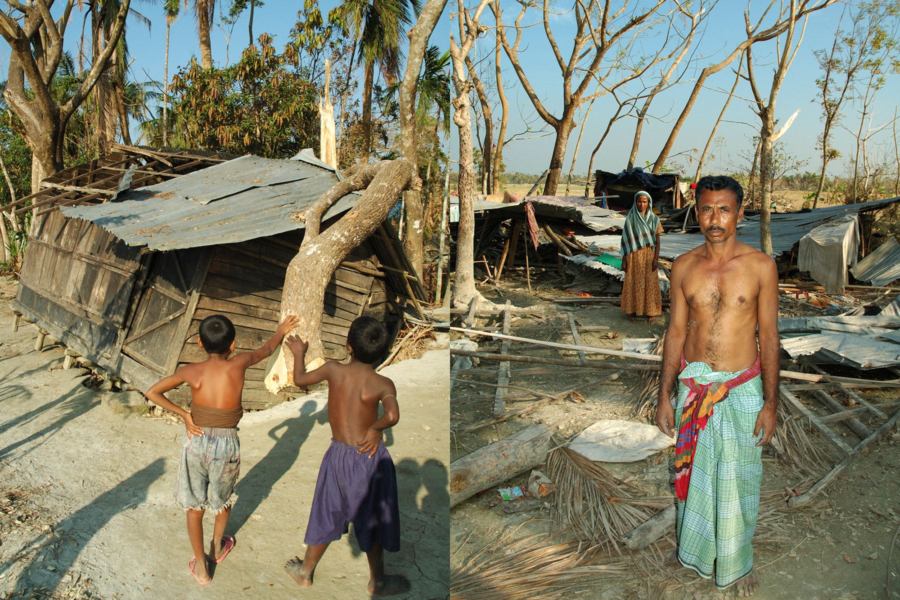 The village after Cyclone Sidr