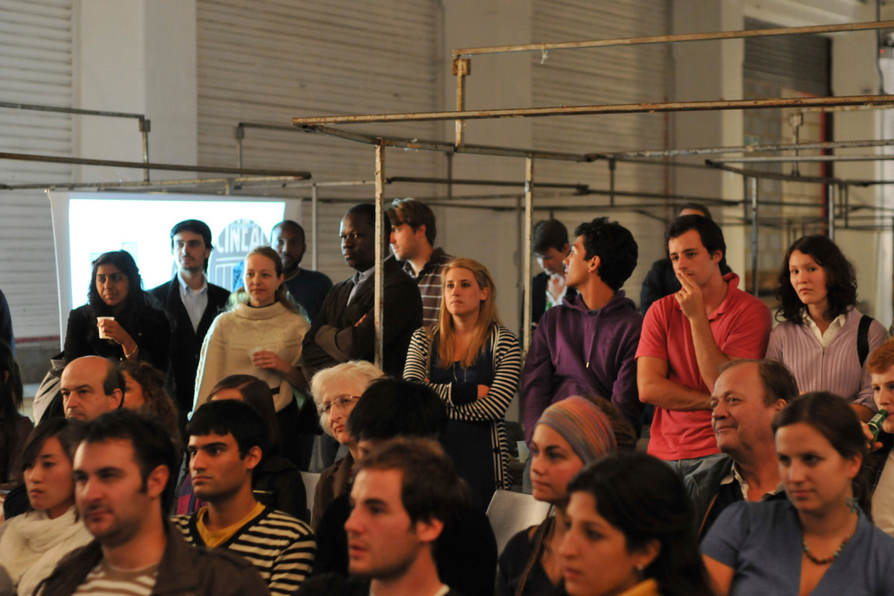 Students and members of the public attending the opening