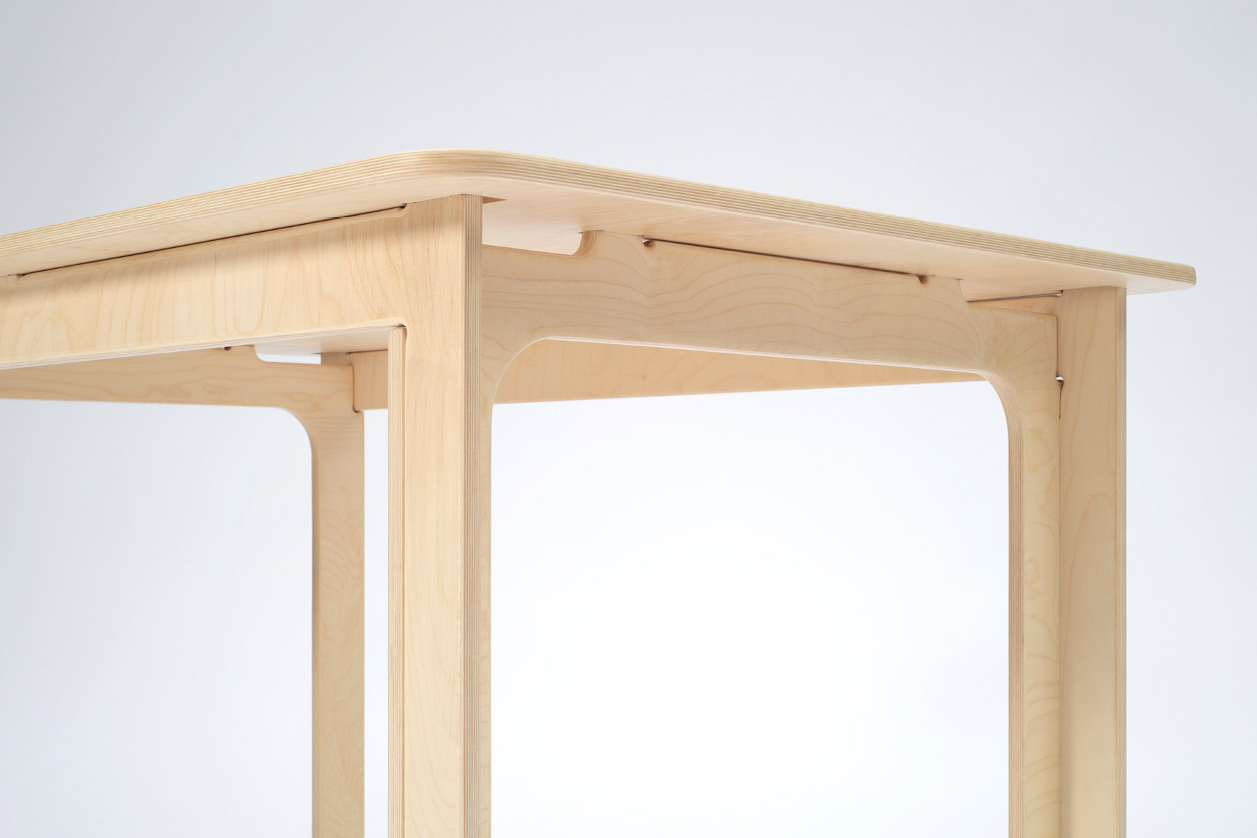 Maple table leg detail