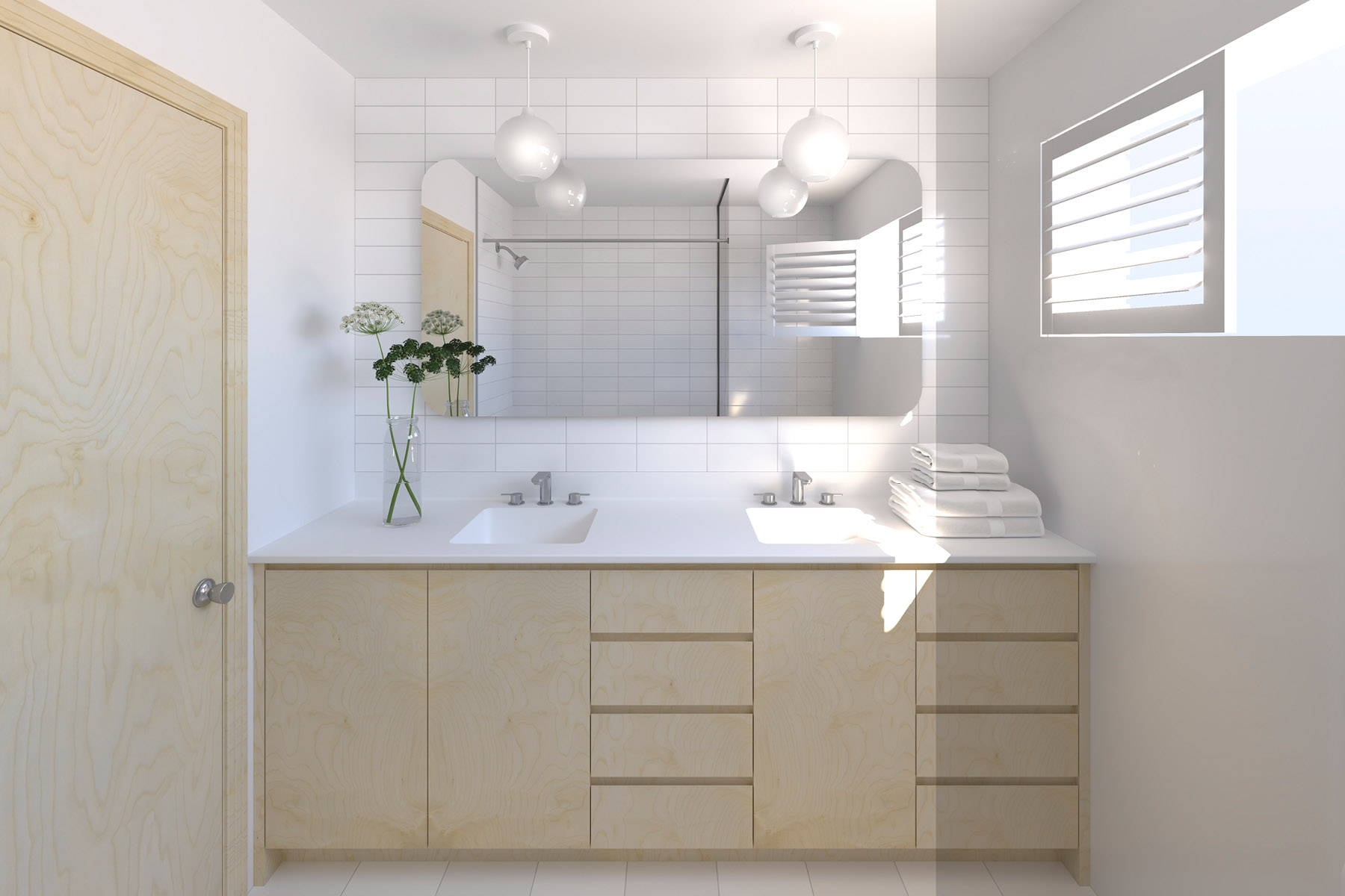 Visualisation of the proposed vanity
