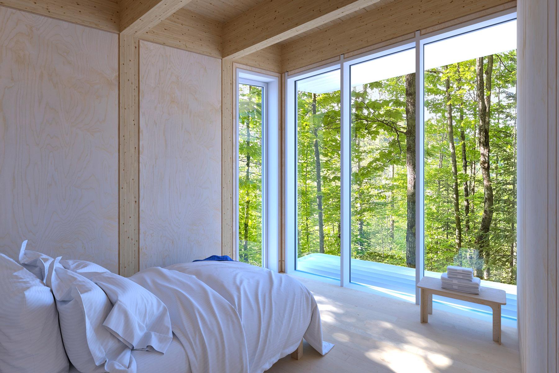 Chambre avec vue sur la forêt