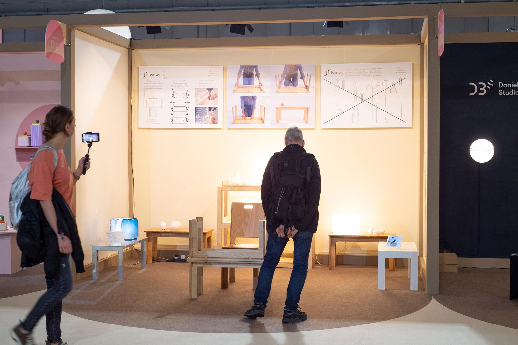 Jflemay's kiosk at SaloneSatellite 2019